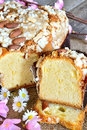 Colomba easter cake sweet called made with almond and sugar Stock Photos