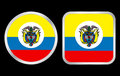 Colombia flag icon Stock Images