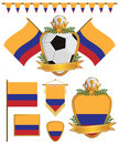 Colombia flags Royalty Free Stock Photos