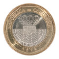 Colombia pesos coin Royalty Free Stock Photo