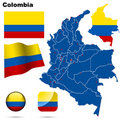 Colombia set. Stock Photos