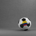 Colombia soccer ball colombian in front of plaster wall Royalty Free Stock Images
