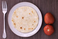 Colombian arepa typical dish of the country Royalty Free Stock Photo