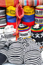 Colombian bags on a market stall in cartagena colombia Stock Image