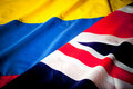 Colombian and British flag Stock Photo