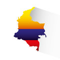 Colombian flag colorful icon