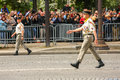 Colonel in Military parade (Defile) during the ceremonial of french national day, Champs Elysee ave Royalty Free Stock Photo