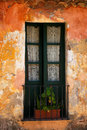 Colonia del sacramento window an old building in in uruguay Royalty Free Stock Photo
