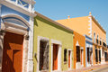 Colonial architecture in Campeche Royalty Free Stock Images