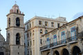 Colonial architecture on Plaza de la Catedral in Old Havana Royalty Free Stock Photo