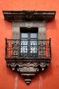 Colonial balcony. Royalty Free Stock Photo