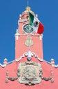 Colonial building merida mexico city hall architecture in yucatan Stock Photos