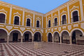 Colonial courtyard Royalty Free Stock Image