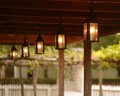 Colonial lanterns hanging in williamsburg virginia Stock Photography