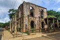 Colonial ruin in hell ville nosy be island northern of madagascar Royalty Free Stock Photo
