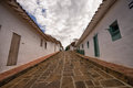 Colonial street in Barchara Colombia Royalty Free Stock Photo