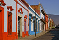 Colonial street oaxaca mexico with typical colorful houses Stock Images