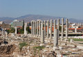 Colonnade in agora ancient smirna izmir turkey under restoration Stock Image