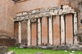 Colonnade of an ancient temple in Rome, Italy Royalty Free Stock Photo