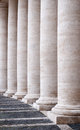 Colonnade detail of bernini of saint peter s basilica in vatican rome italy Stock Image
