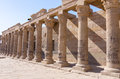 Colonnade at the Philae Temple of Isis, Egypt Royalty Free Stock Photo