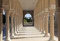 Colonnade in sharjah uae at the american university of united arab emirates Stock Image