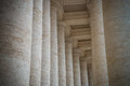 Colonnade on sr peter square rome italy Royalty Free Stock Photography