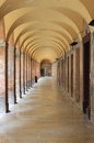 Colonnade in Urbino Royalty Free Stock Photo