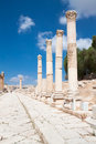 Colonnaded Street, Jerash,  Jordan. Stock Photography