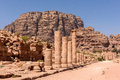 The Colonnaded Street in Petra Royalty Free Stock Photo
