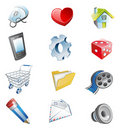 Color 3d web icons. Stock Photos