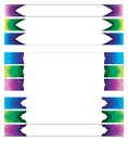Color abstract banner set illustration vector Royalty Free Stock Images