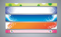 Color abstract banner set illustration vector Stock Images