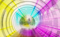 Color abstract blurred speed motion view through the channel of the arch Stock Photos