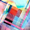 Color abstract bright background watercolor of geometrical elements Stock Photos