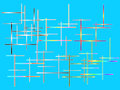 Color abstract composition on blue background Royalty Free Stock Photo
