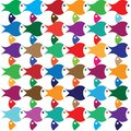 Color Abstract fish Royalty Free Stock Photos