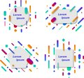 Color abstract geometric. Gradient elements for minimal banner, logo, social post. Futuristic trendy dynamic elements. Abstract ba