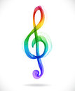 Color abstract treble clef Royalty Free Stock Photo