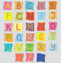 Color alphabet for children Royalty Free Stock Photography