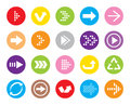 Color Arrow button icon Royalty Free Stock Photo