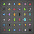 Color arrow buttons interface template Royalty Free Stock Photography
