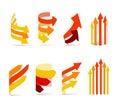 Color arrows set Stock Photography