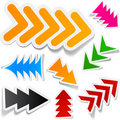 Color arrows sticker set. Royalty Free Stock Photos