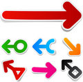 Color arrows sticker set. Royalty Free Stock Image