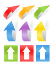 Color arrows stickers collection Royalty Free Stock Photo