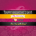 Color background with valentine heart and wishes t text vector illustration Stock Photo