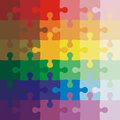 Color background Vector Illustration jigsaw puzzle Royalty Free Stock Photo