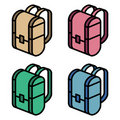 Color backpack Royalty Free Stock Photo