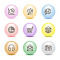 Color ball web icons, set 5 Royalty Free Stock Image